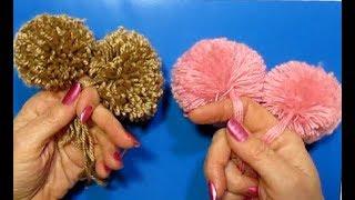 Download Супер-быстрый помпон пышный. Как сделать помпон для шапки своими руками?Поделки из ниток пряжи. Video