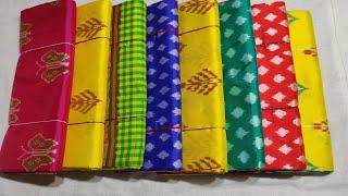 Download Un-Box of Diwali pochampally ikkat pure pattu sarees Latest  ikkat handloom sarees  ikkat sarees Video