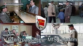 Download Grenzpassage ein MfS Lehrfilm (1980 Jahren) Video