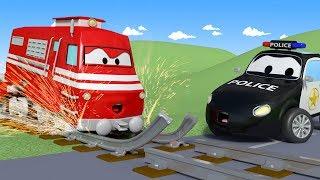 Download Somebody has broken the railroad tracks ! - The Car Patrol in Car City l Kids Cartoons Video
