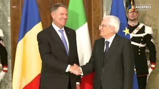 Download Iohannis, primit, la Palatul Quirinale din Roma, de omologul italian Sergio Mattarella Video