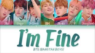 Download BTS (방탄소년단) - I'm Fine (Color Coded Lyrics Eng/Rom/Han/가사) Video