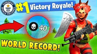 Download 40 KILLS BY 1 PLAYER!? WORLD RECORD! (Fortnite Solo FAILS & WINS #7) Video