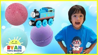 Download Thomas and Friends Bath Balls Japanese Surprise Toys Train Bubbles Ryan ToysReview Video