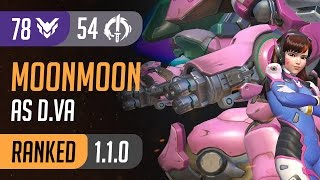 Download [Rating:78] MoonMoon as D.va reach 54 Elims on Lijiang Tower Control / Overwatch Ranked Gameplay Video