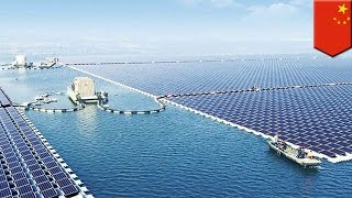 Download China solar panels: PRC is now home to the world's largest floating solar farm Video