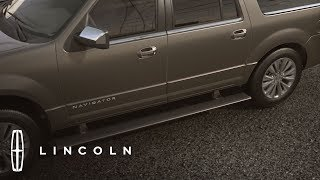 Download Jacking and Hoisting with Power-Deployable Running Boards | How-To | Lincoln Video