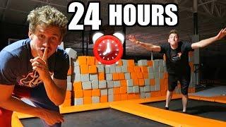 Download 24 HOUR TRAMPOLINE PARK FORT! Video