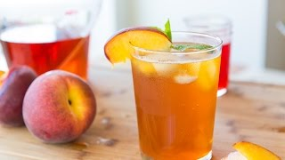 Download HOMEMADE SPARKLING PEACH ICED TEA - Nonalcholic Drink Miniseries Video