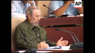 Download WRAP Fidel Castro attends parliament for first time in four years Video
