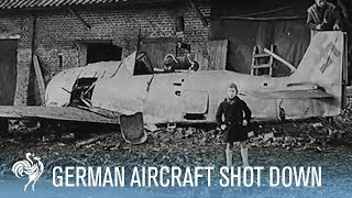 Download Nazi Pilot Jumps from Plane During Aerial Combat | War Archives Video