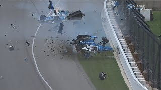 Download IndyCar Series 2017. Indy 500. Jay Howard & Scott Dixon Horrifying Crash (All Angles + Interviews) Video
