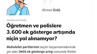 Download Ahmet Ünlü - Öğretmen ve polislere 3.600 ek gösterge artışında niçin yol alınamıyor? - 02.12.2018 Video