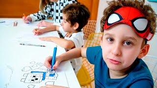 Download Colorindo com 3 Cores com a Mamãe os Desenhos do Minecraft e Unicórnio - Paulinho e Toquinho Video