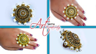 Download Make a ring for special occasion | paper ring | Party wear | Art with Creativity Video