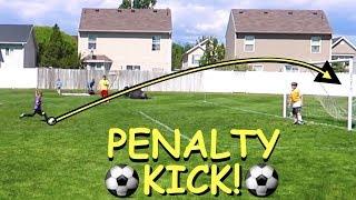 Download ⚽️Boy Scores SOCCER GOAL on Penalty KICK!⚽️ Video