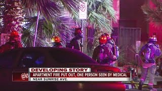 Download 5 displaced after Sunrise Ave apartment fire Video