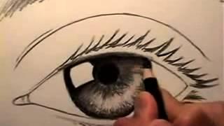 Download تعليم رسم العين سهل بالقلم الرصاص Video