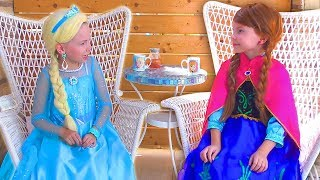Download Frozen Elsa And Anna In Real Life Funny video Compilation by kids smile tv Video