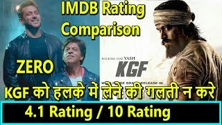 Download KGF Beats Zero IMDB Ratings Comparison I Yash Vs SRK Clash On December 21 2018 Video