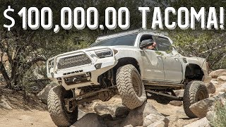 "Download $100,000.00 Toyota Tacoma! Double Triangulated 4 link | Solid Axle Conversion | + 20"" travel Video"