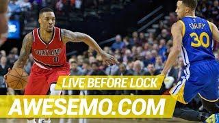 Download NBA DFS Live Before Lock - Sat 5/18 - DraftKings FanDuel Yahoo - Awesemo Video