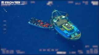 Download Frontex detects mother boat smuggling people Video