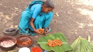 Download Chicken Cooked in Tender Palm Leaf by my Grandma in Village Style    Myna Street Food Video