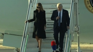 Download Raw: President Donald Trump Arrives in Rome Video