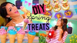 Download Easy + Yummy Spring Treats! DIY Donuts, Ice-cream Cupcakes + Strawberry Lemonade! Video