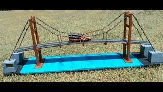 Download How to make suspension bridge model Video