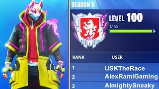 Download WORLDS FIRST LEVEL ″100″ IN FORTNITE BATTLE ROYALE SEASON 5! WORLDS FIRST LIVE (FORTNITE) Video