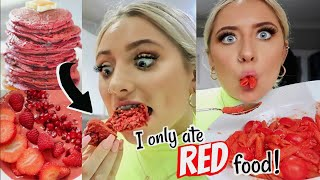 Download I only ate RED food for 24 HOURS challenge!!! Video