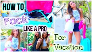 Download What To Pack for Vacation! Tips & Tricks to Pack Like a Pro! Video
