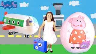 Download Peppa Pig Giant Surprise Egg Opening! Peppa Pig The Holiday🏖 Peppa Pig Toys Full English Episode Video