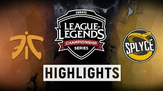 Download FNC vs. SPY - EU LCS Week 8 Day 2 Match Highlights (Summer 2018) Video