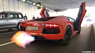 Download Lamborghini Aventador with Straight Pipe Exhaust HUGE Flames & Sounds! Video
