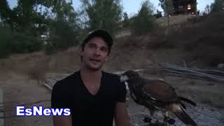 Download ((You Scared???)) Man With A Hawk At Mikey Garcia Party - EsNews Boxing Video