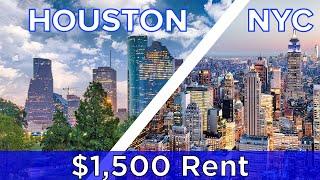 Download $1,500 Rent: New York Vs. Houston Video