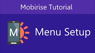 Download Mobirise Menu Setup | Video 2 of 27 Video