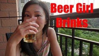 Download Beer Girl drinks German Beer Video