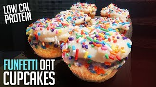 Download Low Cal Funfetti Protein Oatmeal Cupcakes Recipe | 4 Minute Tutorial Video