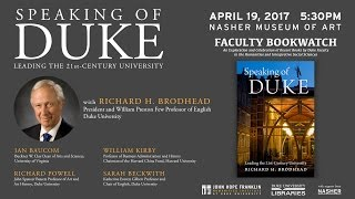 Download Faculty Bookwatch: ″Speaking of Duke: Leading the 21st-Century University″ Video