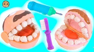 Download Dentist Doctor Barbie Drills + Fills Patients Teeth - Play Doh Tooth Maker Playset Video