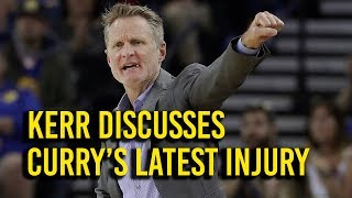 Download Kerr discusses new knee injury to Stephen Curry Video