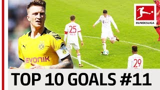 Download Top 10 Goals - Players with Jersey Number 11 - James, Reus, Costa & Co. Video