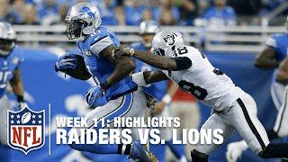 Download Raiders vs. Lions   Week 11 Highlights   NFL Video