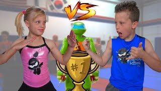 Download Sister vs Brother TWIN NINJA Challenge! Video