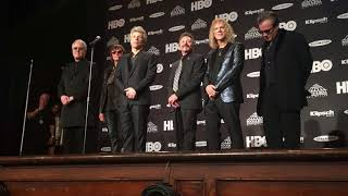 Download Bon Jovi speaks backstage at Rock Hall inductions Video