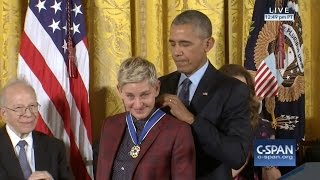 Download Ellen DeGeneres Medal of Freedom Award 11-22-16 Video